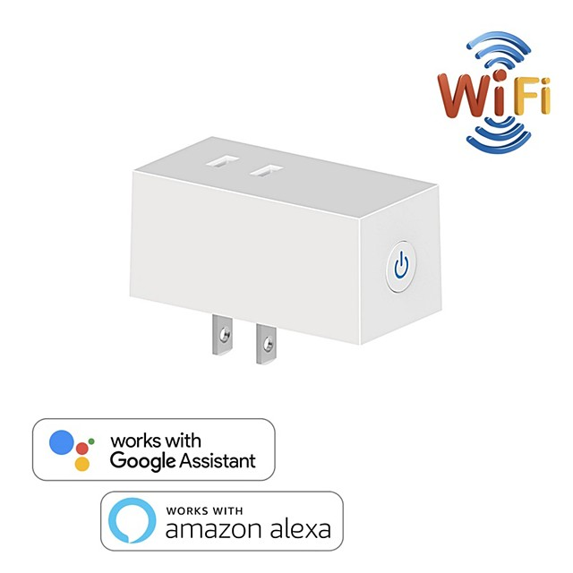 10 A Japan WiFi Switch Socket Plug JP Wireless Extender Remote Outlet Adaptor Smart Home Automation Alexa Google Compatible