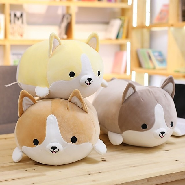 1 pcs Stuffed Animal Pillow Plush Doll Plush Toy Plush Toys Plush Dolls Stuffed Animal Plush Toy Welsh Corgi Soft Plush Fabric Plush Imaginative Play, Stocking, Great Birthday Gifts Party Favor