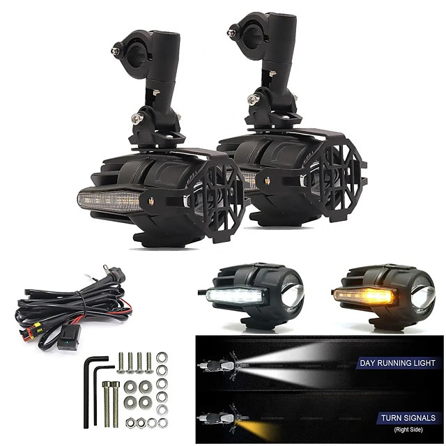 LITBest 2pcs Motorcycle Light Bulbs 40 W 4000 lm LED Fog Lights For Motorcycles Avenger All years