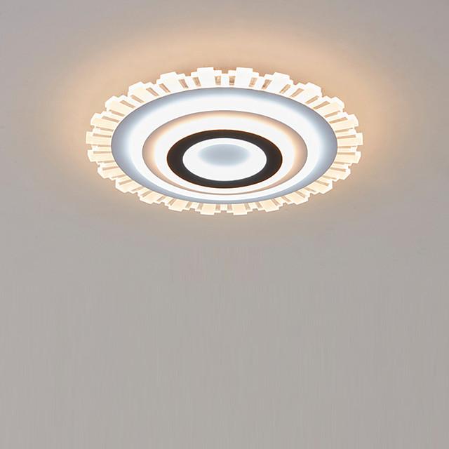 LED Acrylic Ceiling Light 50 cm Round Dimmable Flush Mount Lights  Bedroom Kids Room Home Office Modern 110-120V / 220-240V