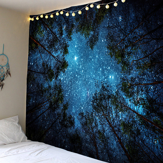 Modern landscape theme tapestries hanging or background cloth decorative cloth 100% polyester fiber fabrics