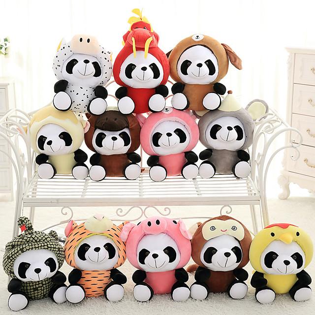 1 pcs Stuffed Animal Pillow Plush Doll Simulation Plush Toy Plush Toys Plush Dolls Stuffed Animal Plush Toy Panda Animal Comfortable Realistic Soothing PP Plush Imaginative Play, Stocking, Great