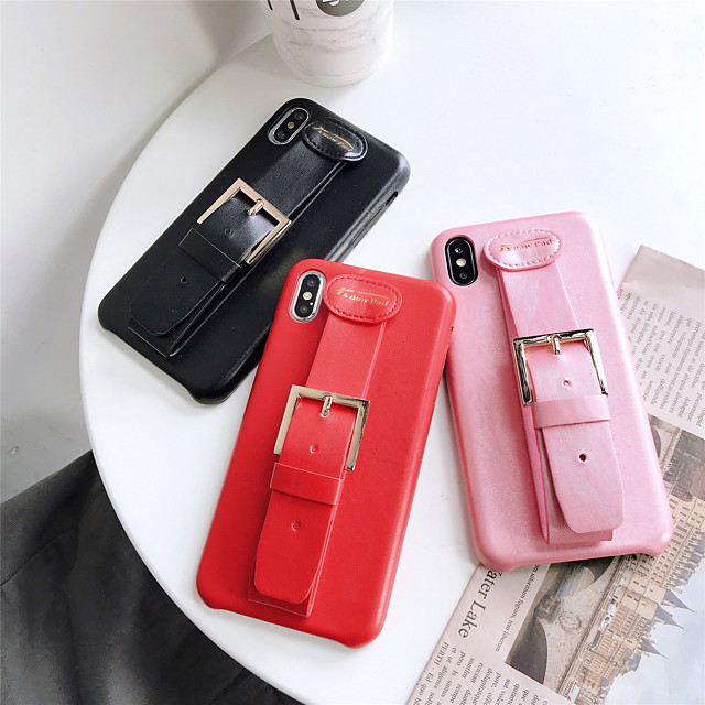 Solid Colored Leather Ring Holder Stand Protection Cover for Apple iPhone Case 11 Pro Max X XR XS Max 8 Plus 7 Plus SE(2020)