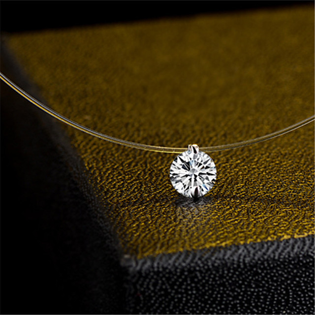 Women's Choker Necklace Pendant Necklace Dainty European Trendy Fashion Zircon White 40 cm Necklace Jewelry For Party Evening Street Birthday Party Beach Festival