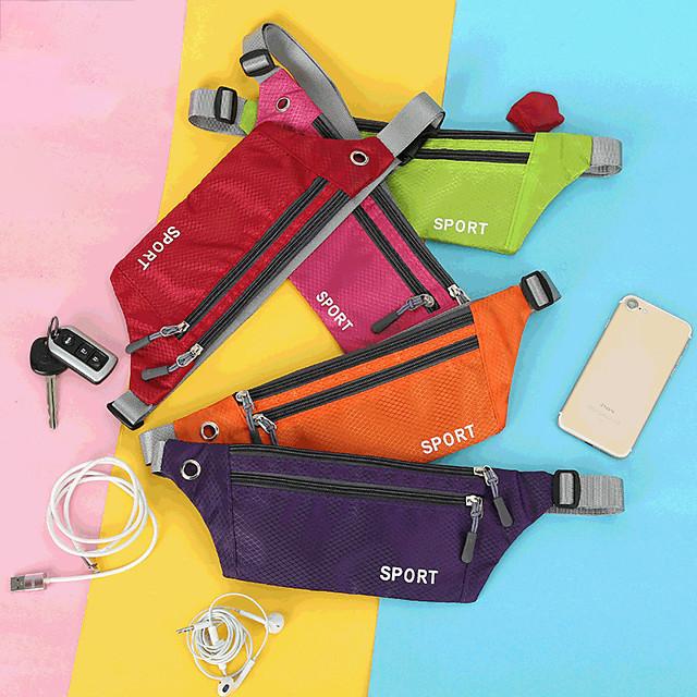 Running Belt Fanny Pack Belt Pouch / Belt Bag for Running Hiking Outdoor Exercise Traveling Sports Bag Adjustable Waterproof Portable Nylon Men's Women's Running Bag Adults