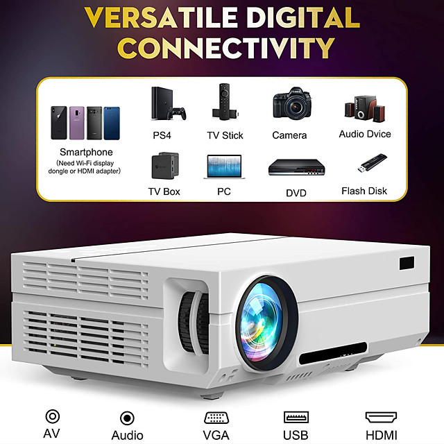 LITBest T60 LED Projector 220 lm Android Support
