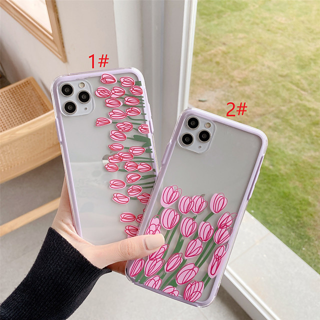 Hard PC Flower Protection Cover for Apple iPhone Case 11 Pro Max X XR XS Max 8 Plus 7 Plus SE(2020)