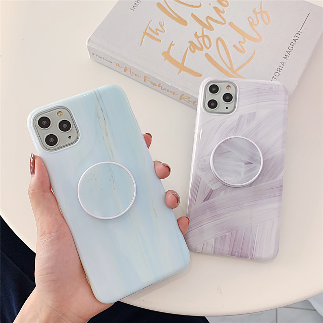 Marble TPU with Ring Holder Protection Cover  for Apple iPhone Case 11 Pro Max X XR XS Max 8 Plus 7 Plus SE(2020)