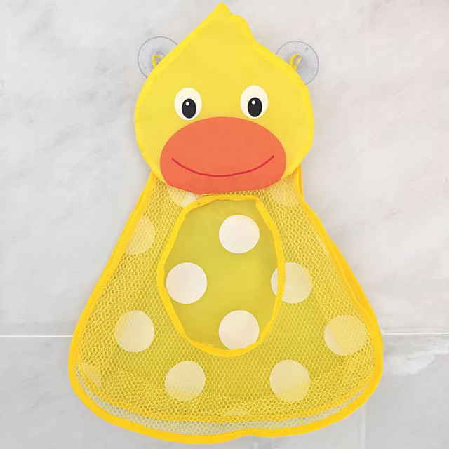 Bathroom Toy Bag Children's Storage Hanging Strong Sucker suction cups Duck Frog waterproof net Wall pockets
