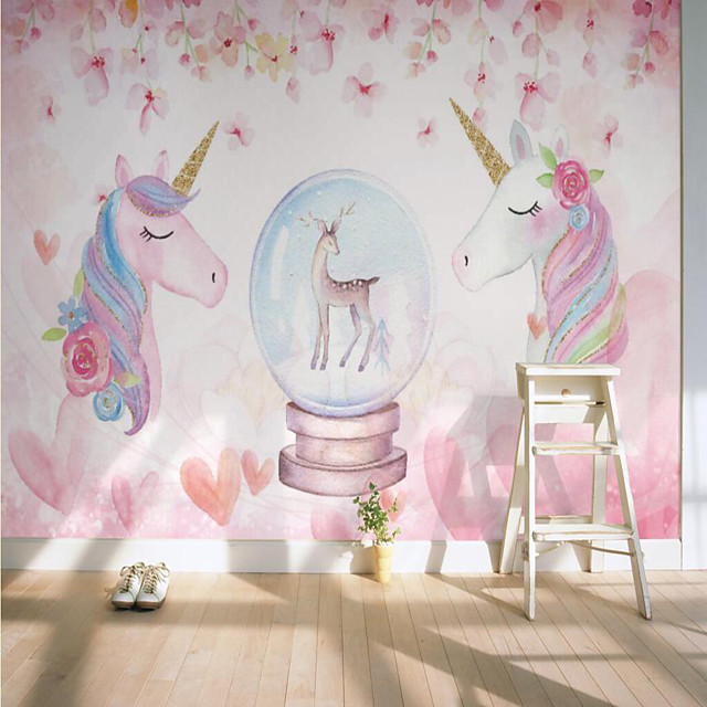 Custom Self-adhesive Mural Tianma Children Cartoon Map Suitable for Background Wall Coffee Shop Hotel Wall Decoration Art Room Wallcovering