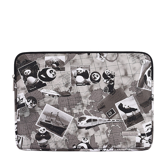 11.6 12 13.3 14 15.6 Inch Laptop Sleeve Polyester Cartoon Character Panda For Women Pink Waterpoof Shock Proof
