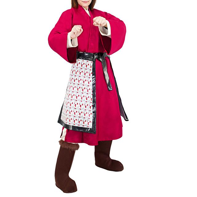 Mulan Outfits Women's Movie Cosplay Hanfu Fuchsia Halloween Terylene
