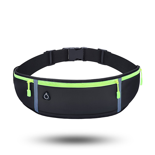 Running Belt Fanny Pack Belt Pouch / Belt Bag for Running Hiking Outdoor Exercise Traveling Sports Bag Adjustable Waterproof Portable Lycra® Men's Women's Running Bag Adults