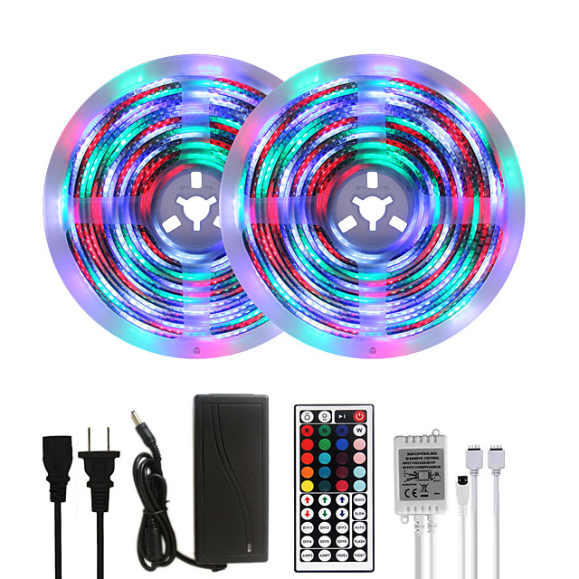 MASHANG Bright RGBW LED Strip Lights 32.8ft 10M Waterproof RGBW Tiktok Lights 2340LEDs SMD 2835 with 24 Keys IR Remote Controller and 100-240V Adapter for Home Bedroom Kitchen TV Back Lights DIY Deco