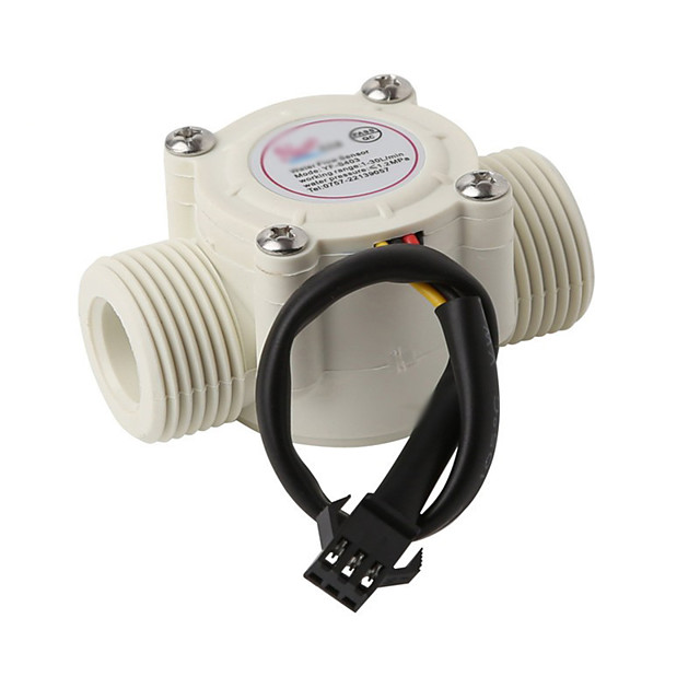 Water Flow Meter Sensor Counter Indicator float switch Hall for water heaters G1/2 1-30L/min DN15