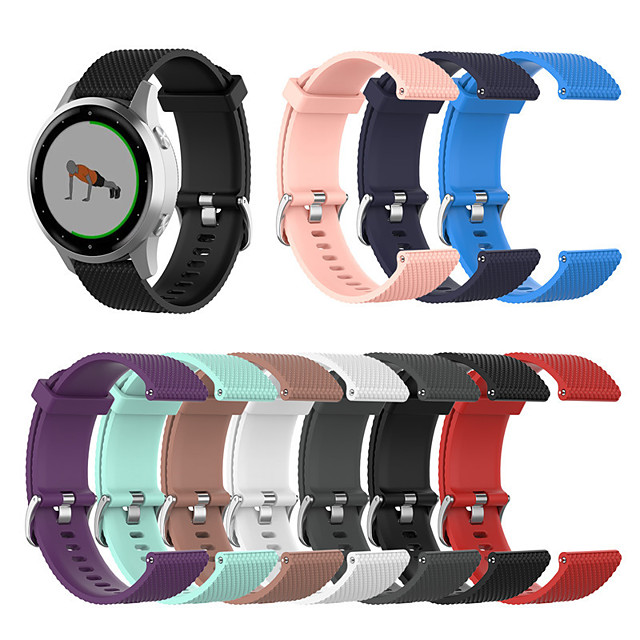 22mm / 18mm Texture Watch Band for Garmin Vivoactive 4 / Garmin Vivoactive 4S Watch Strap Texture Sport Watch band Replacement Band for Garmin Vivoactive 4 / Garmin Vivoactive 4S