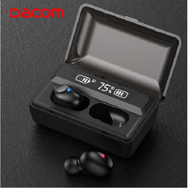 LITBest T8 TWS True Wireless Earbuds Wireless Dual Drivers with Volume Control HIFI with Charging Box Auto Pairing for Mobile Phone