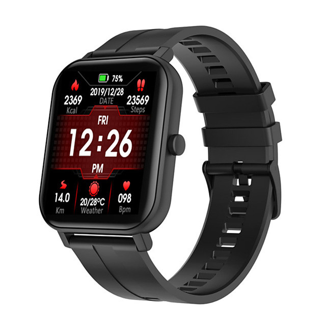 C22 Men Women Smartwatch Android iOS Bluetooth Waterproof Touch Screen Heart Rate Monitor Sports Calories Burned Stopwatch Pedometer Call Reminder Activity Tracker Sleep Tracker
