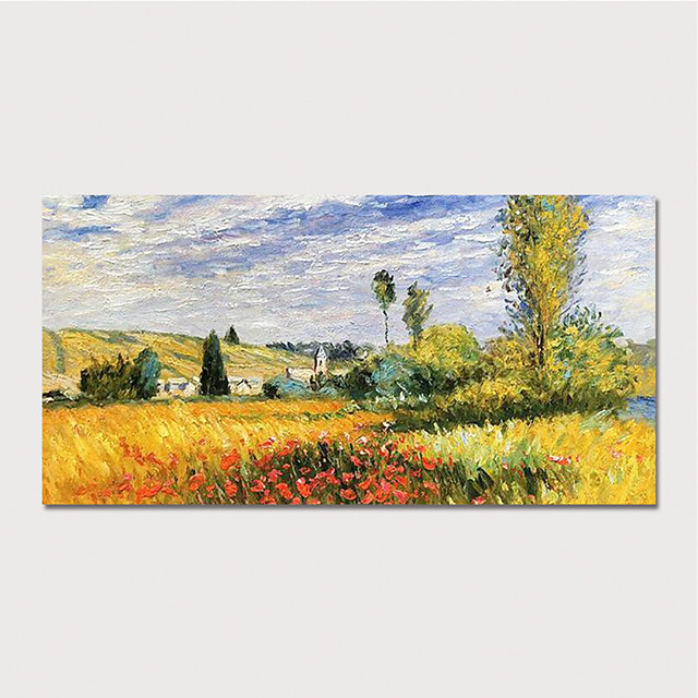 Hand Painted Canvas Oilpainting Impression Landscape Home Decoration with Frame Painting Ready to Hang