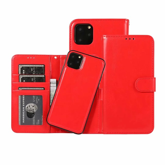 Case For Apple iPhone 11 / iPhone 11 Pro / iPhone 11 Pro Max Wallet / Card Holder Full Body Cases Solid Colored PU Leather for iPhone / X / XR / XS / XS Max / SE 2020 / 7 Plus / 8 Plus / 7 / 8