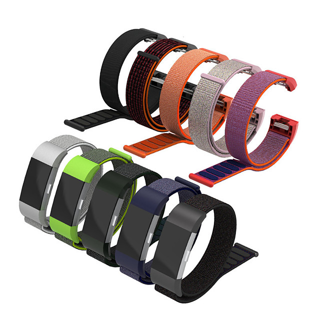 Nylon Loop Strap for Fitbit Charge 2 Multicolor Watch Band Smart Fitness Tracker Replacement Wristbands Bracelet for Fitbit Charge 2