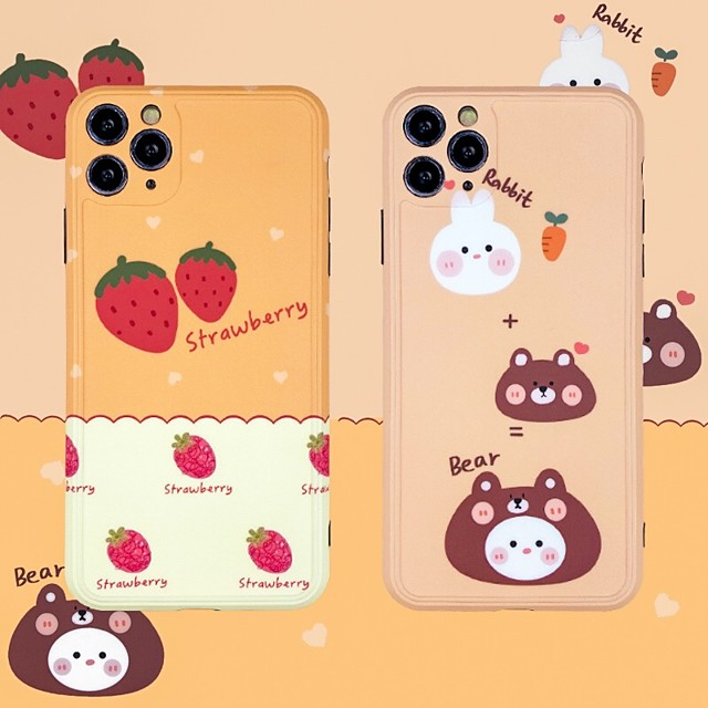 IMD Cartoon TPU for Apple iPhone Case 11 Pro Max X XR XS Max 8 Plus 7 Plus SE(2020) Protection Cover