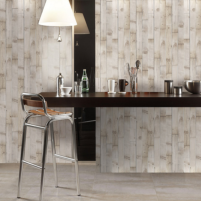 Simulation Fir Grain Floor Stickers Color Wall Stickers Pvc Waterproof Wear-resistant Thickened Stickers Brown Wood Grain