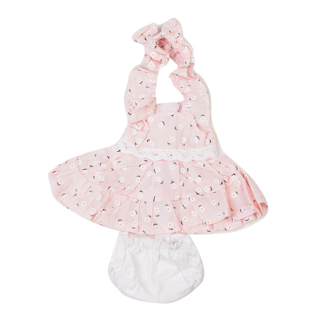 Reborn Baby Dolls Clothes Reborn Doll Accesories Cotton Fabric for 10-11 Inch Reborn Doll Not Include Reborn Doll Princess Skirt Flower Soft Pure Handmade Girls' 3 pcs