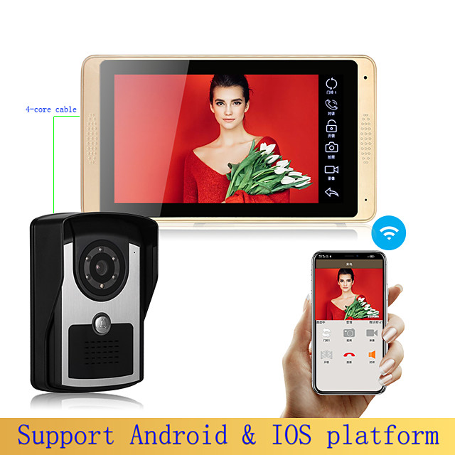 Smart Touchscreen Control Panel / App / WiFi / Monitor&Sensor Waterproof / Touchscreen / Hands-free Calling LCD / ABS APP / iOS / Andriod 4.2 Above