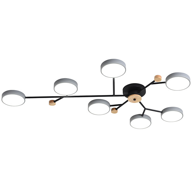 ZHISHU 7-Light 120 cm Dimmable / Geometric Shapes Flush Mount Lights Metal Acrylic Sputnik Painted Finishes Traditional / Classic / Nordic Style 220-240V