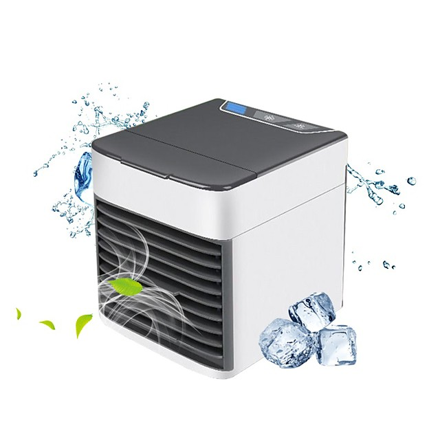 Portable Air Conditioner USB Desktop Air Conditioning USB Convenient Air Cooler Fan 3 Speeds, Super Quiet Humidifier Misting Cooling Fan for Home Office Bedroom Mini Air Cooling Fan