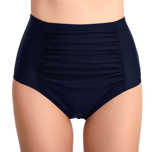 Women's High Waisted Bikini Bottom Elastane Bottoms Breathable Quick Dry Swimming Surfing Water Sports Solid Colored Summer / Stretchy