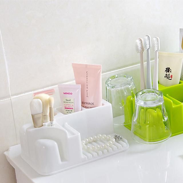 Rectangle Bathroom Receive A Case Cosmetics Wash Gargle Plastic Shelf Toilet Bathroom Crossover Vehicle Color Random