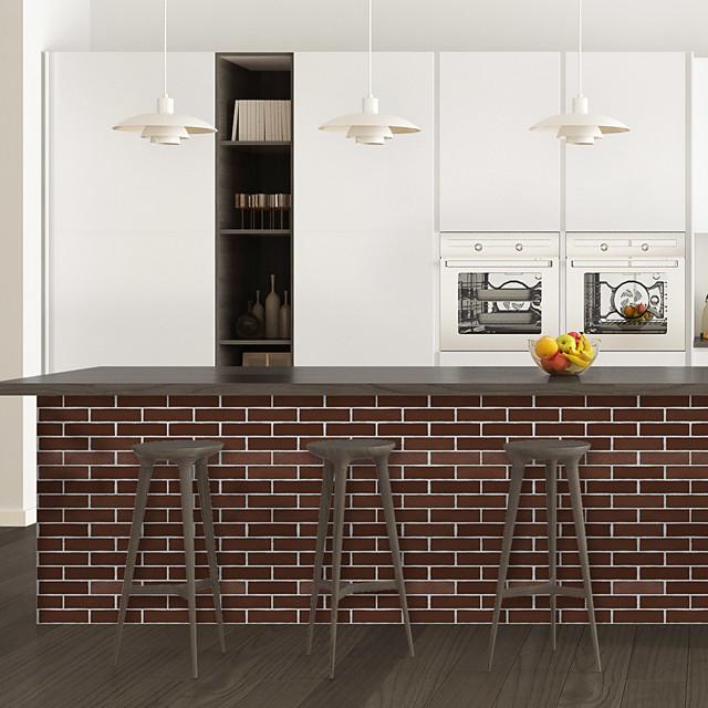 Old red brick pattern PVC simulation self-adhesive DIY decorative wall stickers bar stickers
