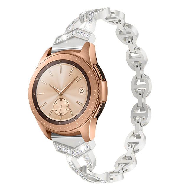 20mm Women Diamond Bracelet for Garmin vivoactive3/vivomove HR sport / vivomove / Forerunner245 /Forerunner645 Quick Release Strap Metal Wrist Belt