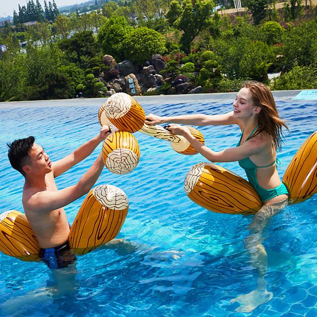 Inflatable Pool Float Inflatable Ride-on Inflatable Pool Fun PVC Summer Outdoor Beach Swimming Pool Party 4 pcs Men's Women's Adults