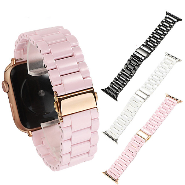 Ceramic Strap For Apple Watch Series 5 4 3 2 1 Luxury Ceramic Bracelet  For iwatch 38mm 42mm 40mm 44mm Accessories