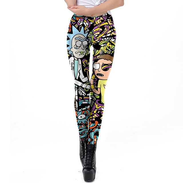 Inspired by Rick and Morty Pants Polyster Printing Pants For Women's