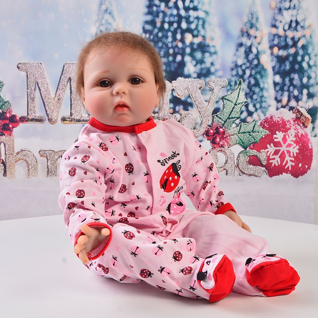 Reborn Baby Dolls Clothes Reborn Doll Accesories Cotton Fabric for 22-24 Inch Reborn Doll Not Include Reborn Doll Insect Soft Pure Handmade Girls' 1 pcs