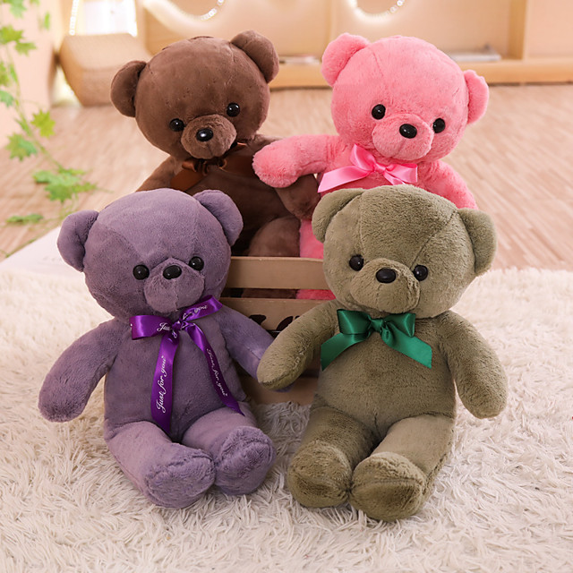 1 pcs Stuffed Animal Pillow Plush Doll Sofa Toys Plush Toys Plush Dolls Stuffed Animal Plush Toy Cartoon Teddy Bear Comfortable Realistic PP Plush Imaginative Play, Stocking, Great Birthday Gifts