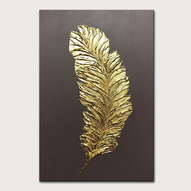 Mintura Original Hand Painted Modern Abstract Golden Oil Paintings on Canvas Wall Picture Pop Art Posters For Home Decoration Ready To Hang