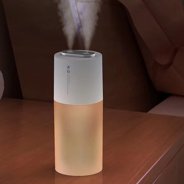 1pcs 2200mAh Battery Wireless Humidifier 400ml Portable Double Nozzle Ultrasonic Air Humidificador Mist Maker Air Purifier For Home