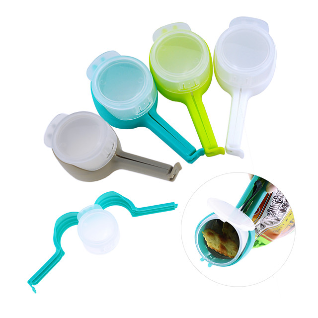 Seal Pour Food Storage Bag Clip Snack Sealing Fresh Keeping Sealer Clamp Plastic Helper Saver Travel Kitchen Gadgets