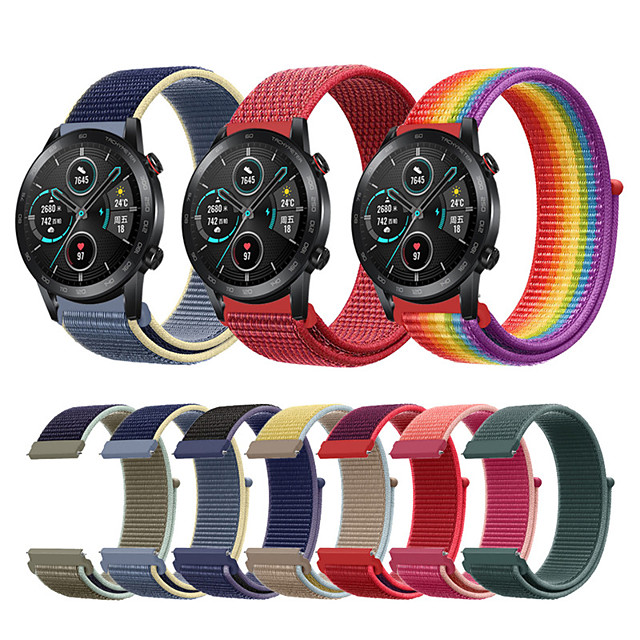 Sport Nylon Wrist Strap Watch Band for Huawei Watch GT 2e / Honor Magic Watch 2 46mm / 42mm / GT2 46mm / GT2 42mm / GT Active / Watch 2 Pro / Watch 2 Replaceable Bracelet Wristband