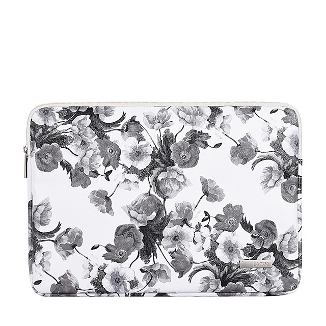 11.6 12 13.3 14 15.6 Inch Laptop Sleeve PU Leather Floral Print Vine for Women for Business Office for Colleages Schools Waterpoof Shock Proof