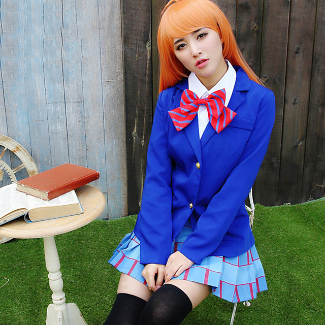 Inspired by Love Live Anime Cosplay Costumes Japanese Cosplay Suits Coat Skirt Bow Tie For Women's