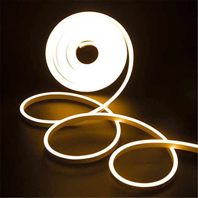 4m Neon Strip Lights 360 LEDs 2835 SMD 6mm 1pc Warm White White Red Christmas New Year's Waterproof Cuttable Decorative 12 V