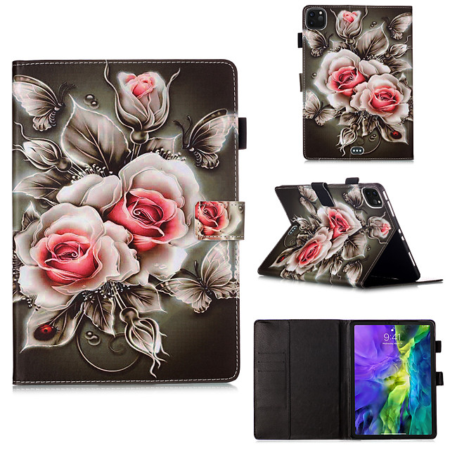 Case For Apple iPad Pro 11 inch 2020 iPad Mini 3/2/1 / iPad Mini 4 with Stand / Flip / Pattern Full Body Cases Flower PU Leather for iPad5 iPad6 iPad 9.7 2018 2017