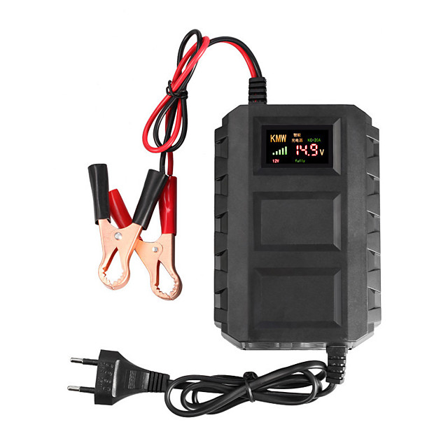 NEW Intelligent 12V 20A Automobile Car Motorcycle Smart Sealed Lead Acid Battery Charger LED Digital Display car accessories