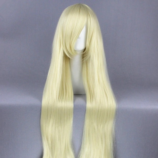 Cosplay Wig Kozakura Mari Kagerou Project Curly Cosplay Halloween With Bangs Wig Long Blonde Synthetic Hair 47 inch Women's Anime Cosplay Soft Blonde
